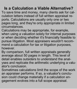 Is Calculation a Viable Alternative