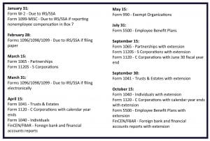 Q1 Tax Deadlines from Pugh CPAs