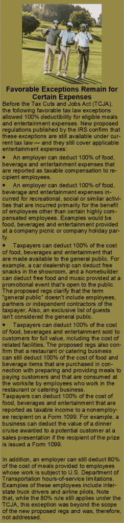 Tax Regulations for Meals and Entertainment